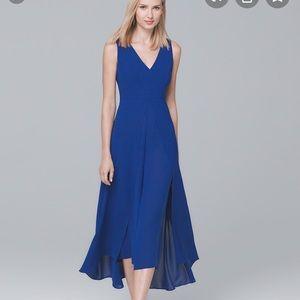 Whbm blue chic & flows jumpsuit dress